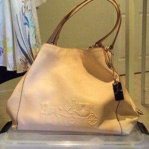 Coach soft pink handbag